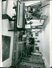 Interior of Maurice Chevalier's house.