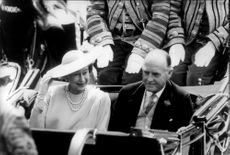 Queen Elizabeth and Ronald Ferguson in cartoons at Prince Andrew and Sarah Ferguson's wedding