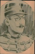 Drawing of the French author Alfred Dreyfus