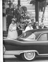 Prince Bernhard and Queen Juliane giving public appearance.