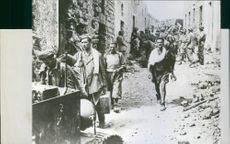 Prisoners rounded up in Pantelleria during World War II