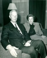 John Louis with his wife.