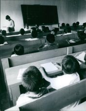 A photo from the inside of a classroom.
