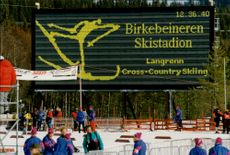 Birkebeineren ski stadium where the crossing will be decided during the Olympics in Lillehammer.