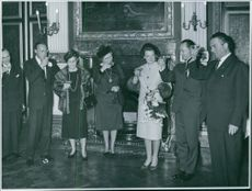 Carlos Hugo, Duke of Parma and Piacenza toasting drink glass with hes family