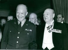 General Dwight D. Eisenhower photographed with Sir Winston Churchill