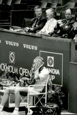 A player takes over during the first day of the Stockholm Open 1987
