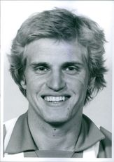 A portrait of a football player Rein Albo.