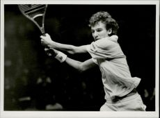 Mats Wilander plays in the final of the Davis Cup