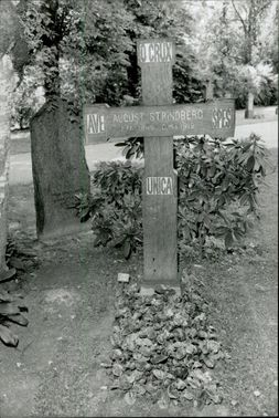 August Strindberg's burial site at the northern burial ground in Solna.