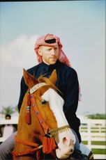 Portrait picture of tennis player Boris Becker taken during a visit to the emirate of Qatar.