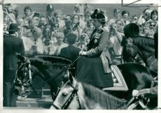 Trooping the Colour (the queen calmly riding back to buckam)ingh