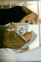 Yassir Arafat with his wife Suha at Hotel Crillon in Paris
