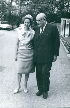 Paul-Henri Spaak with spouse Marguerite Malevez  April 1, 1965