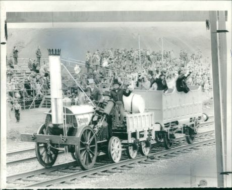 A reproduction of Stephenson's Rocket.