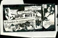 Newspaper clip after Mats Wilander's victory in Paris