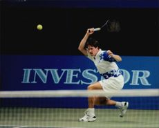 Henrik Holm in action during the Stockholm Open.