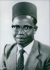Portrait of The Hon. S.k. Nkutu, M.P. Uganda Politician.