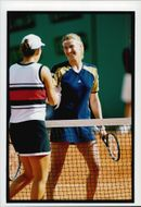 Steffi Graf celebrates win at French Open