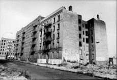 Old abandoned buildings in southern Bronx