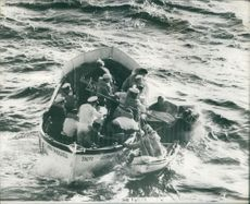 Rescue team trying to save people. Photo taken 1971