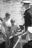 Anne, Princess Royal exit of boat.