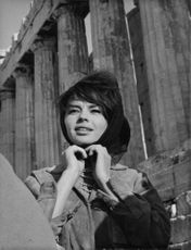 Portait of Pascale Petit, in Athens.