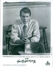 """The photo of Tom Berenger in a film """"The substitute""""."""