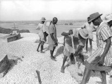 People from Senegal digging. Archaeological findings throughout the area indicate that Senegal was inhabited in prehistoric times and has been continuously occupied by various ethnic groups. Some kingdoms were created around the 7th century: Takrur in the