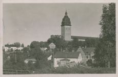 Strängnäs Cathedral - Postcard black and white
