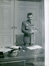 French general Jacques Massu have standing in his office