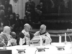 Pope Paul VI reading.