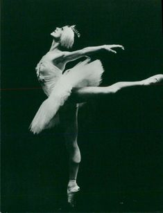 A woman performing ballet.