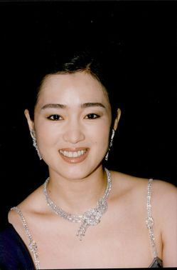 Portrait shot of Chinese actress Gong Li at the Cannes Film Festival.