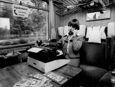 West German train company enables telephone calls during the trip.
