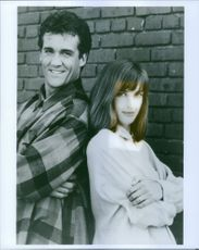 A vintage photo of John Wesley Shipp and Amanda Pays in the television series The Flash. 1990 TV series