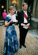 Belgian state visit. Carl and Mia Bildt at the gala dinner at the Palace
