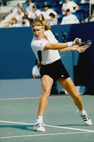 Steffi Graf in the match against Mirjana Lucic during the US Open.