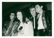 English musician Boy George with his band Culture Club
