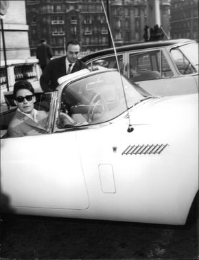 Jacques Charrier in car.