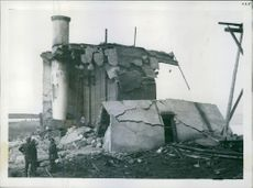 Power house for mines put out of action. A preventative measure against possible German use. 1941.