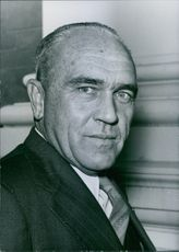 """Photograph of Professor F. R. Tomlinson. South African Personalities. Author of the controversial """"Tomlinson Report"""" on the native question in the Union."""