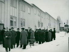 Houses of Siporex plates in Sandviken are inspected by the ironworks' guests