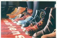 A typical display of Dr Martens footware