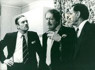 Nicky Henson, Michael Gambon and Geoffrey Palmer in
