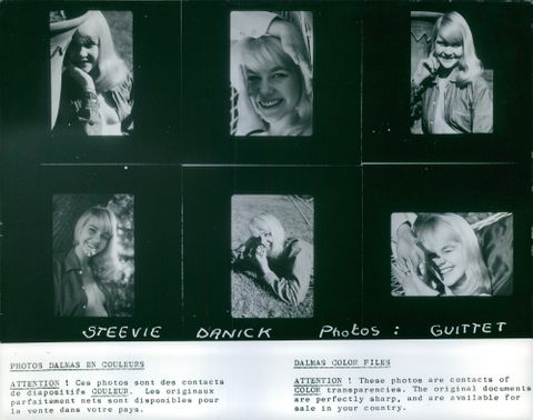 Portrait photos of a young woman named Steevie Danick.  - Jun 1963