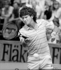 Paul McNamee in action during the Davis Cup in 1981