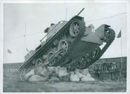 Svea Life Guards tank inclined over the sack.