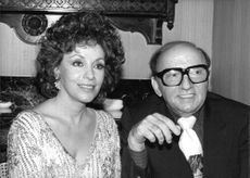 Harold Robbins with his wife Grace Robbins.