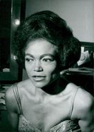 Eartha Kitt in close-up